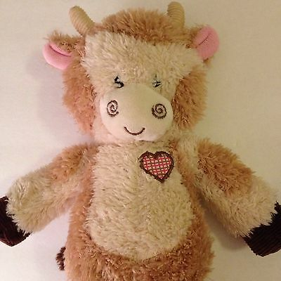 First And Main Tender Betty Plush Cow Giraffe 2815 Heart Plaid Patch 13""