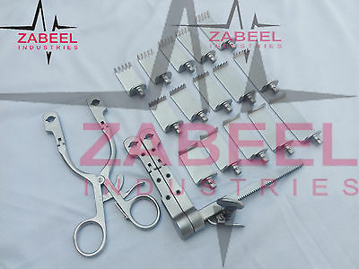 ACF Caspar Winged Arm Transverse Longitudinal Retractor Set Zabeel