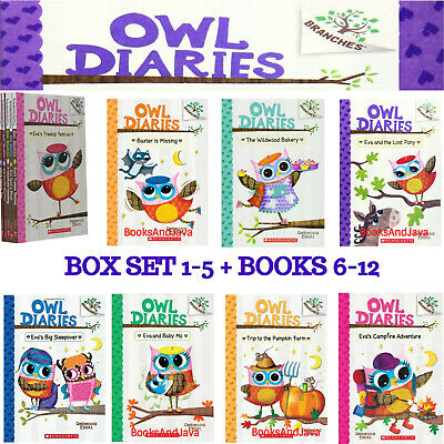 Owl Diaries 1-7 Treetop Festival,Eva Sees Ghost,Warm Heart+(pb) Rebecca Elliott