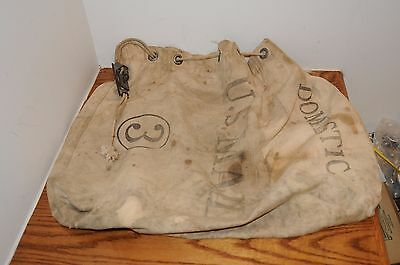 Vintage U.S. Mail No. 3 Bag Domestic Bag Historical Memrabilia w Brass Lock Keys