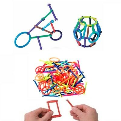 45pc Snap Click building sticks autism fine motor occupational therapy