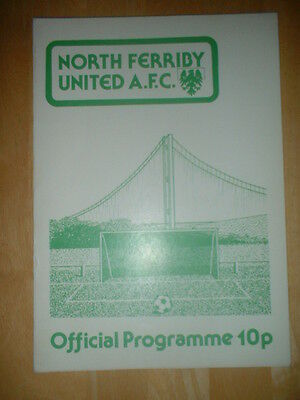 1980/81 North Ferriby V Nottingham Forest - Psf European Champions