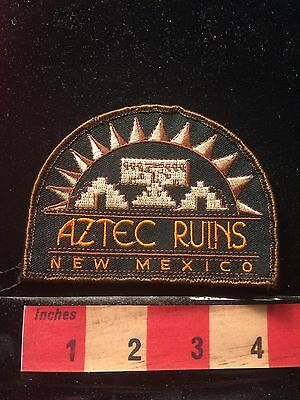 New Mexico Patch AZTEC RUINS ~ Native American Peoples 69WO