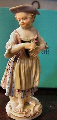 Stunning Antique Meissen Figurine of Young Woman Early 19th Century