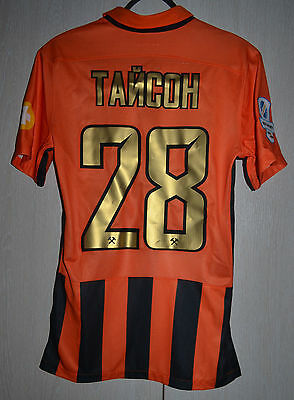 SHAKHTAR UKRAINE MATCH UN WORN ISSUE FOOTBALL SHIRT JERSEY NIKE TAISON Brazil
