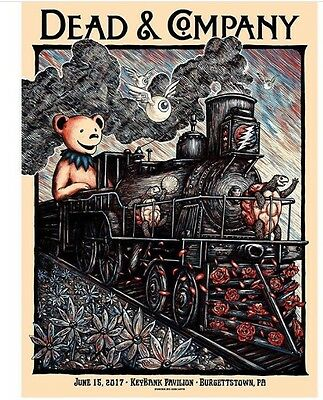 Dead And Company Burgettstown PA Poster 2017 Zeb Love