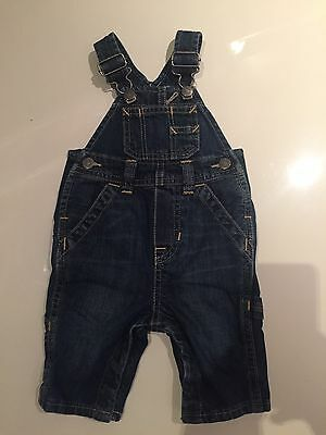Denim Dungarees, Size 0-3 Mths, From Baby Gap, NEW