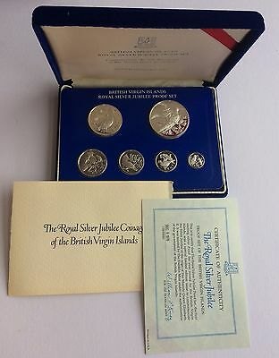 BRITISH VIRGIN ISLANDS Silver Jubilee 1977 Sterling Silver Proof Coin Set