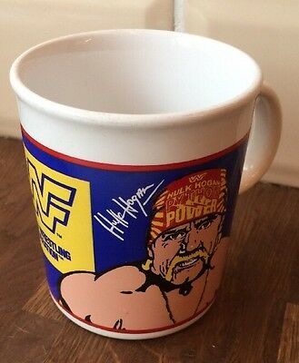 Vintage WWF wrestling Hulk Hogan and The Ultimate Warrior Mug titansports marvel