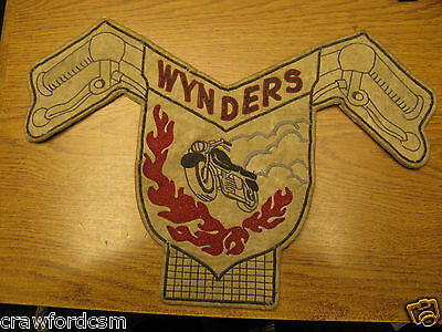 Vintage Vancouver area British Columbia Canada WYNDERS Motorcycle Club Patch