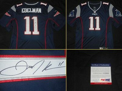 PATRIOTS NFL Football Jersey Signed by JULIAN EDELMAN Autographed Perfect!