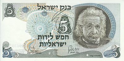 Israel, 1968 5 Lirot P34a ((UNC)  **Black serial number**