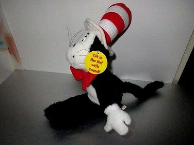 "Dr Seuss Cat in the Hat Talking Applause 14"" Plush # T7"
