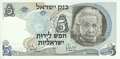 Israel, 1968 5 Lirot P34b ((UNC)  **Red serial number**