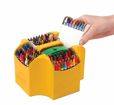 152 Color Crayola Ultimate Crayon Case, Sharpener Caddy Glitter and Metallic too