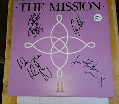 "The Mission - 2 -  Like A Hurricane 12"" Signed Vinyl record & 6 Square Postcards"