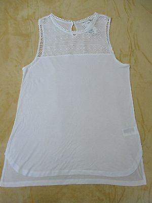 New With Tags, Ladies Size L / 16 White Sleeveless Top, H&m Of Sweden
