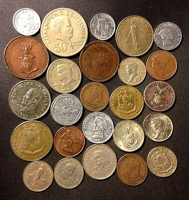 Old Philippines Coin Lot - 1904-Present - 25 Great Coins - Lot #J16