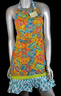 Dena Home Kitchen Collection Sunday Afternoon Apron Kitsch Retro Style Chic NWT