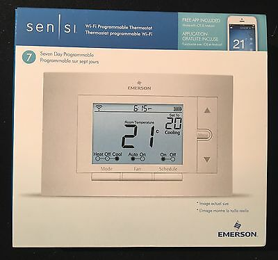 New Emerson White Sensi Thermostat With WiFi UP500WC **FACTORY SEALED NIB**