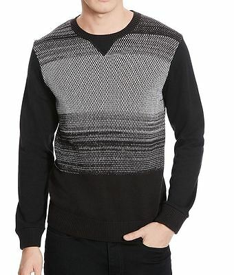 Kenneth Cole Reaction NEW Black Gray Mens Size 2XL Crewneck Sweater $79 199