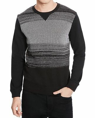 Kenneth Cole Reaction NEW Black Gray Mens Size Large L Crewneck Sweater $79 196
