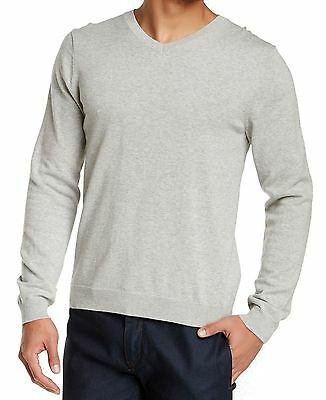 WALLIN & BROS NEW Heather Gray Mens Size 2XL V-Neck Pull-Over Sweater $60 694