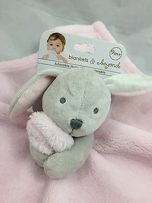 Adorable Pink Bunny Nunu Lovey Baby Girl Blanket - Blankets and Beyond