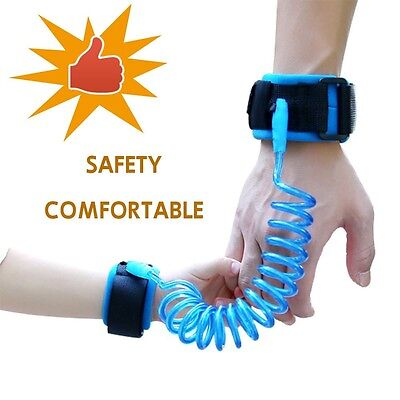 Baby Child Anti Lost Safety Wrist Link Harness Strap Rope Leash Walking Hand