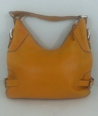 Vintage Michael Kors Handbag, Yellow/Pumpkin Leather, Hobo, Purse