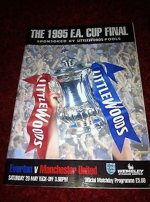 The 1995 F A Cup Final Official Matchday Programme Everton V Manchester United .