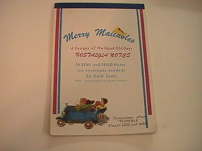 Merry Mailables Nostalgia Notes 16 Seal and Send Notes 24 gold seals RARE 1970's