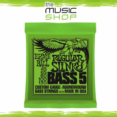 Set Ernie Ball 2836 Reg. Slinky 5-String Electric Bass Guitar Strings - 45-130