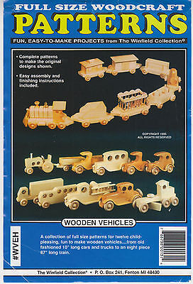 Wooden Vehicles Pattern Set - Full-Size Patterns for Making Variety of Wood Toys