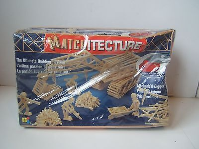 Matchitecture Mechanical Digger Wood Building Set 6641 Sealed in Damaged Box