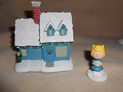 Hawthorne Village Peanuts Charlie Brown's House Christmas Village Collection