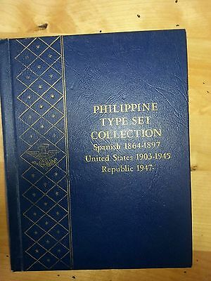 Philippines Type Set Collection Whitman # 9526 with some coins.