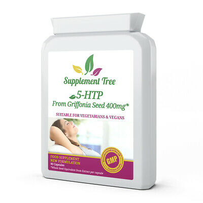 5HTP 200mg 90 Capsules HIGH STRENGTH hydroxy tryptophan Seratonin Supplement