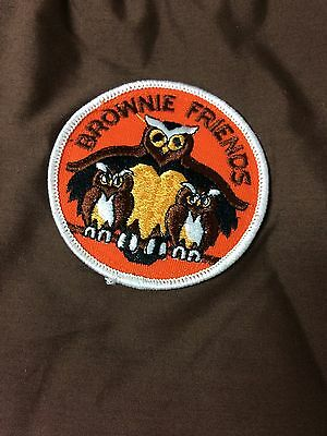 Homemade Girl Guide Brownie Friends Badge Brown Book Bag Satchell