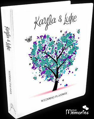 Wedding Planner/pretty in green/Diary/Book/Keepsake momento/Personalised