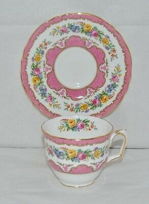 Beautiful Vintage Crown Staffordshire, Fine Bone China Tea Cup and Saucer