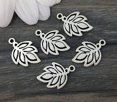 Bulk Leaf Charms 10/20/50pcs - Nature Forest - Tree Leaves Pendant   CH198