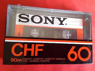 CASSETTE TAPE BLANK SEALED - 1x (one) SONY CHF 60 [1978-81] made in Japan