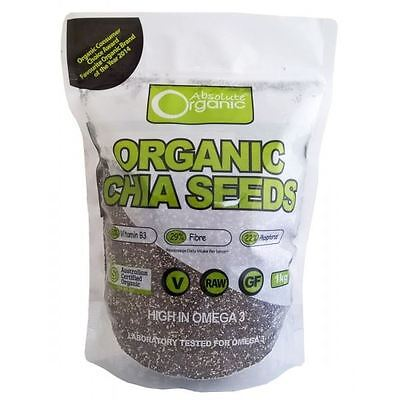 Absolute Organic Chia Seeds Black 1KG