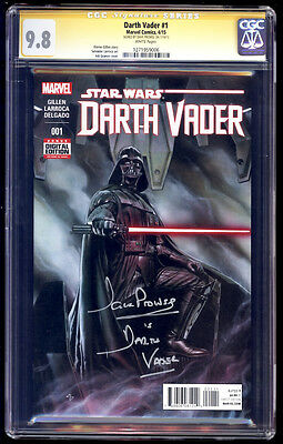 Darth Vader #1 SS CGC 9.8 David Prowse Signature Series Star Wars
