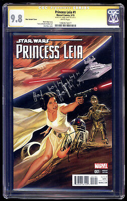 Princess Leia #1 Ross Variant SS CGC 9.8 Carrie Fisher Star Wars