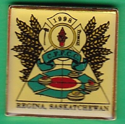 Canadian Firefighters Curling Championships - 1998 - Regina   - Souvenir Pin