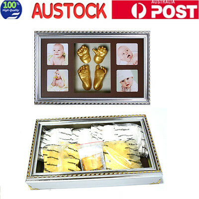 3D Baby Hand & Foot Casting Kit With Photo Frame Handprint Footprint AU