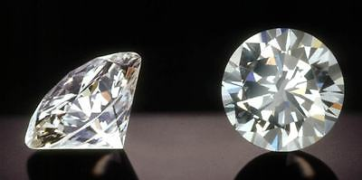 Matching Pair of 4.00ct Round Brilliant Cut Loose Moissanite 2.00ct Each 8mm