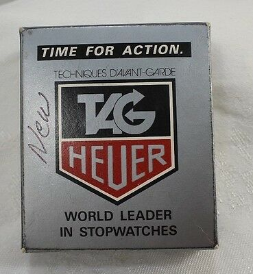 Tag Heuer Microsplit 1000 Stopwatch With Box & Instructions Works!